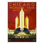 Chicago World's Fair 1933 Vintage Travel Poster