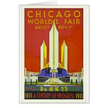 Chicago Worlds Fair 1933 Vintage Travel Poster Art