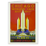 Chicago Worlds Fair 1933 Vintage Travel Poster Art Card