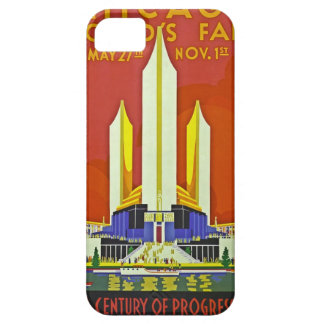 Chicago Worlds Fair 1933 Vintage Travel Poster Art iPhone 5 Cases