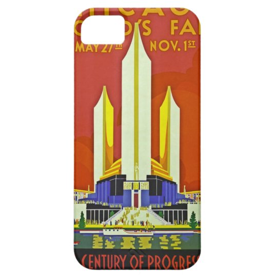 Chicago Worlds Fair 1933 Vintage Travel Poster Art iPhone SE/5/5s Case