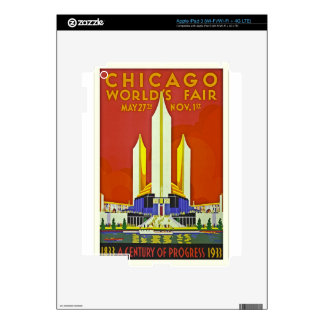 Chicago Worlds Fair 1933 Vintage Travel Poster Art Decal For iPad 3