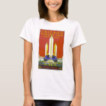 Chicago Worlds Fair 1933 Vintage Travel Poster Art T-Shirt