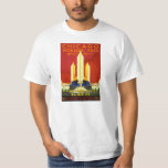 Chicago World's Fair 1933 Vintage Travel Poster T-Shirt