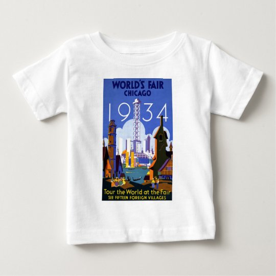 Chicago World's Fair 1934 Baby T-Shirt