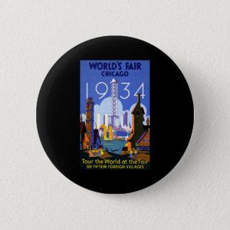 Chicago World's Fair 1934 Button