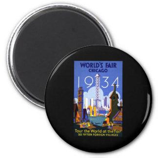 Chicago World's Fair 1934 Magnet