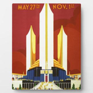 Chicago world's fair. A century of progress Photo Plaques