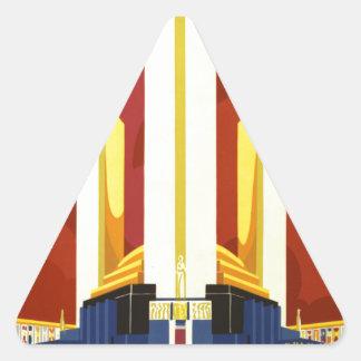 Chicago world's fair. A century of progress Triangle Sticker