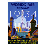 Chicago World's Fair American Vintage Travel Card