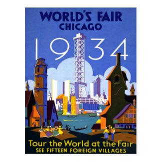 Chicago World's Fair American Vintage Travel Postcard