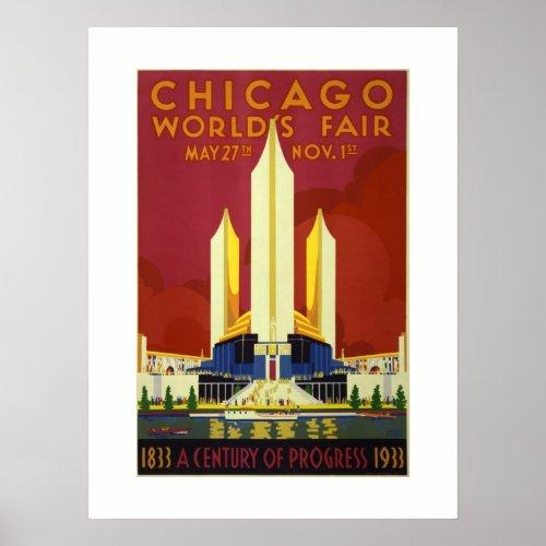 Chicago World's Fair Century Of Progress 1833-1933