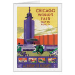 Chicago World's Fair Poster 1933 Card