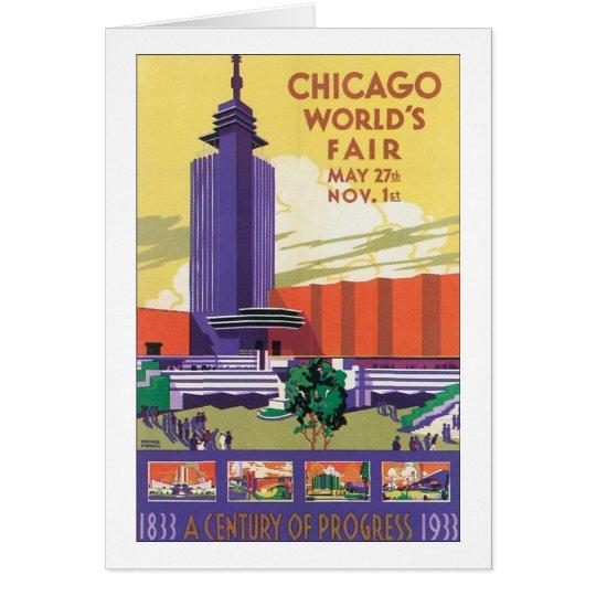 Chicago World's Fair Poster 1933 Card