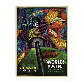 Chicago World's Fair US Vintage Travel Postcard