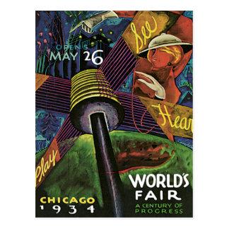 Chicago World's Fair US Vintage Travel Post Cards