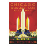 Chicago Worlds Fair Vintage Poster