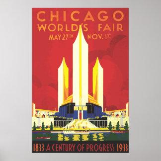 Chicago Worlds Fair Vintage Poster