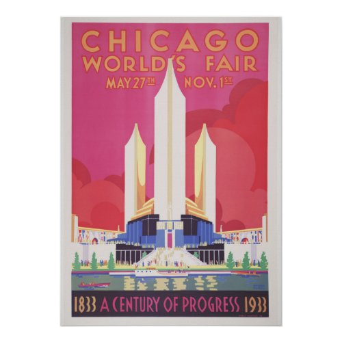 Chicago World's Fair Vintage Poster (28