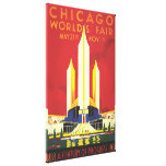 Chicago Worlds Fair Vintage Poster Stretched Canvas Prints