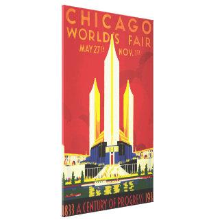 Chicago Worlds Fair Vintage Poster Canvas Print