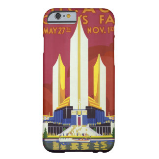 Chicago worlds fair Vintage Poster Restored Barely There iPhone 6 Case