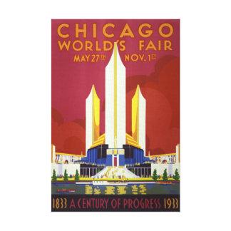 Chicago worlds fair Vintage Poster Restored Canvas Print