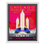 Chicago Worlds Fair Vintage Reproduction Poster