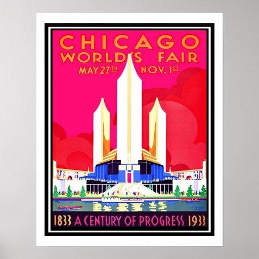Chicago Worlds Fair Vintage Reproduction Print