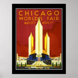 Chicago World's Fair Vintage Travel Poster Print