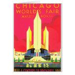 Chicago World's Fair Vintage Travel Poster Artwork
