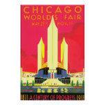 Chicago World's Fair Vintage Travel Poster Artwork