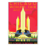 Chicago World's Fair Vintage Travel Poster Artwork Card