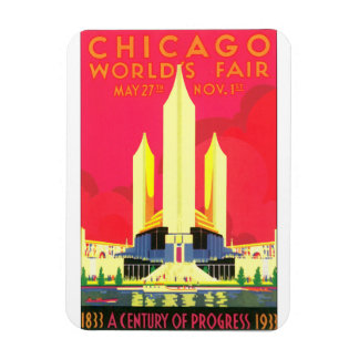 Chicago World's Fair Vintage Travel Poster Artwork Magnet