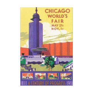 Chicago World's Fair Vintage Travel Poster Canvas Print