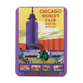 Chicago World's Fair Vintage Travel Poster Rectangular Photo Magnet
