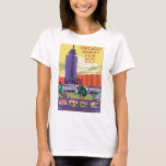 Chicago World's Fair Vintage Travel Poster T-Shirt