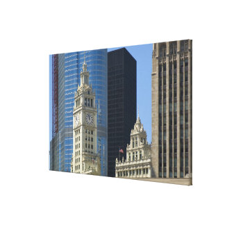 Chicago, Wrigley Building with Trump Hotel & Gallery Wrapped Canvas