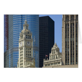 Chicago, Wrigley Building with Trump Hotel & Card