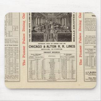 Chicago y ferrocarril 3 de Alton Alfombrilla De Ratones