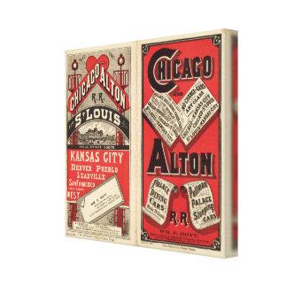 Chicago y ferrocarril 3 de Alton Lona Envuelta Para Galerias