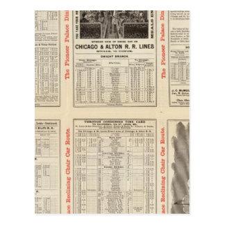 Chicago y ferrocarril 3 de Alton Tarjeta Postal