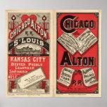 Chicago y ferrocarril de Alton Impresiones