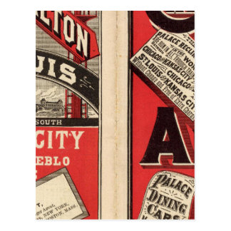 Chicago y ferrocarril de Alton Tarjeta Postal