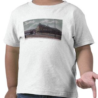 Chicago y ferrocarril del noroeste camisetas