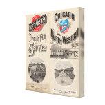 Chicago y línea occidental del norte impresión en lienzo