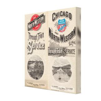 Chicago y línea occidental del norte impresión de lienzo
