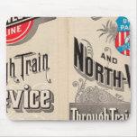 Chicago y línea occidental del norte mouse pads