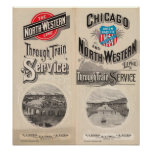 Chicago y línea occidental del norte poster
