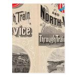 Chicago y línea occidental del norte tarjetas postales